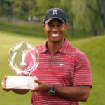 DUBLIN, OH - JUNE 07: Tiger Woods poses with the trophy after a one-stroke victory at the Memorial Tournament at the Muirfield Village Golf Club on June 7, 2009 in Dublin, Ohio. (Photo by Scott Halleran/Getty Images)
